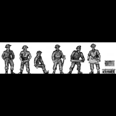 British 25pdr crew – Set 2 (20mm)