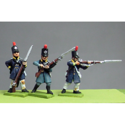 NEW - Silesian Landwehr, British shako, litewka, skirmishing (18mm)