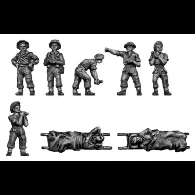 R.A.M.C loading ambulance with casualties (20mm)