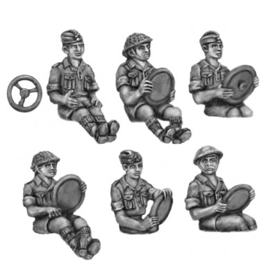 Western Desert Force - Drivers (20mm)