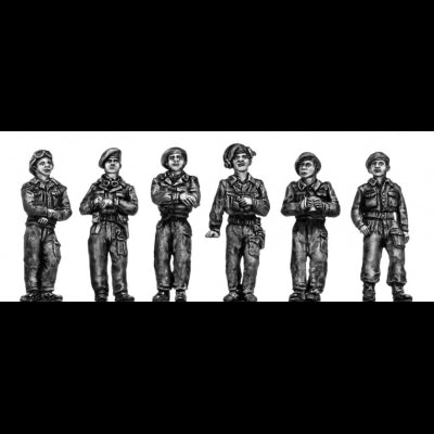 Crew in battledress and berets (20mm)