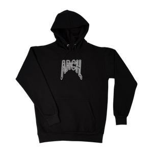 Distorted Hoodie - Black-Arch Clothing UK