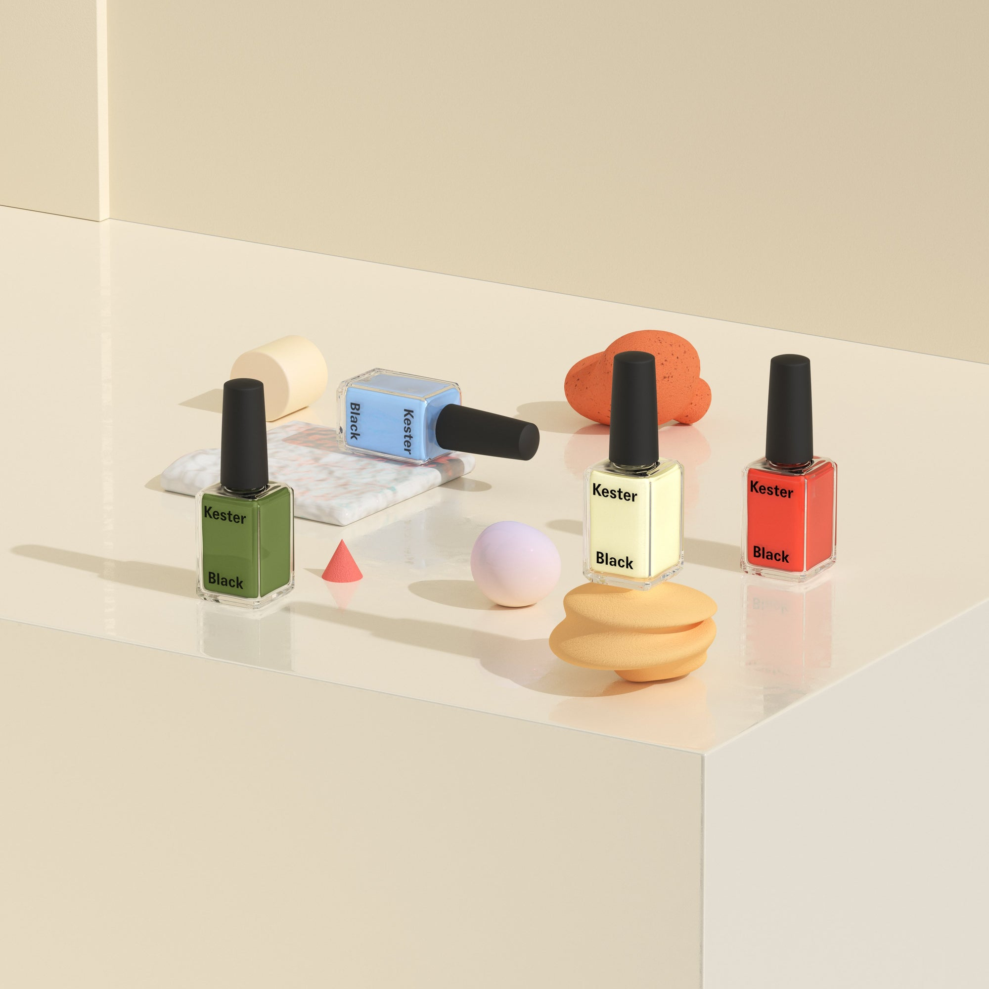 Naturally balanced nail colour: Four new shades to wear boldly.