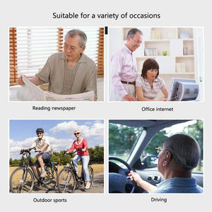 FoldFlat ™Titanium progressive far and near dual-use reading glasses