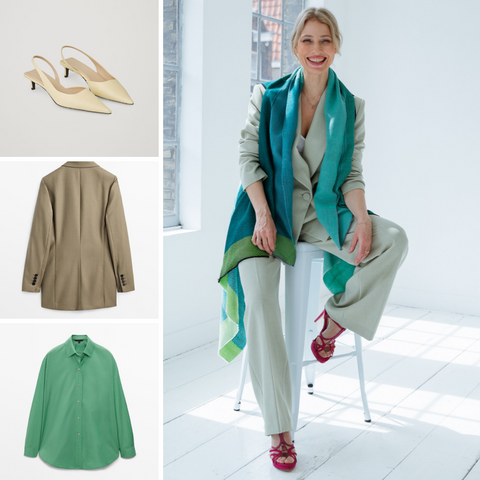 Smart fall dressing with a suit and Julahas Cape for warmth