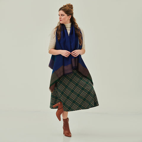 The skirt and boots look with our Cape Nile