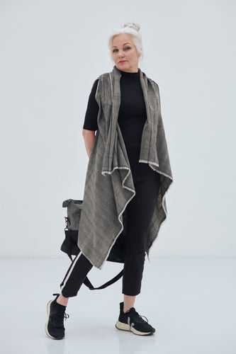Pure soft wool Grey toned-Celestial Cape Mercury-for all seasons