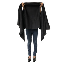 Load image into Gallery viewer,  [Julahas] - Stylish versatile ecofriendly and ethical natural wool cape made by Indian artisans for all occasions and seasons