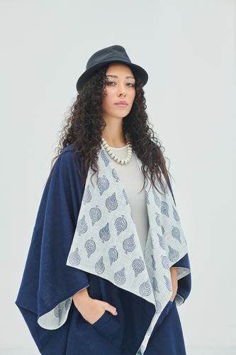 100% pure cotton reversible, block printed, free size Kimono Air