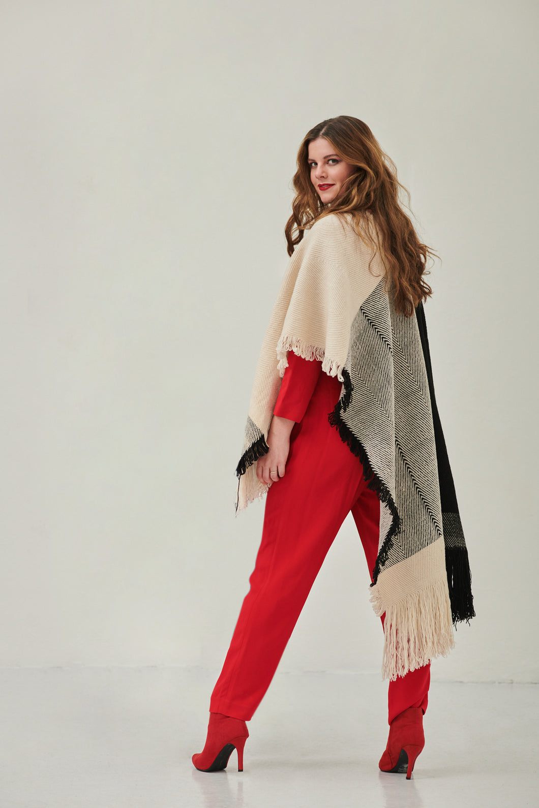 Timeless, one-size ethical poncho scarf- NEW! BEYOND Cape