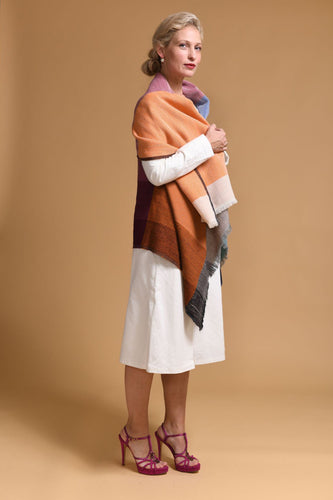 All-in-one poncho type vest-Daria Cape Ganges