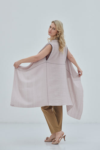 Timeless and sustainable Poncho Cape-Celestial Venus