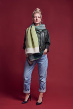 Load image into Gallery viewer, Multi-functional and trendy Daria Cape Amazon - A Classic green Scarf for winter