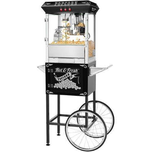 Superior Popcorn Hot And Fresh Popcorn Popper Machine W/ Cart