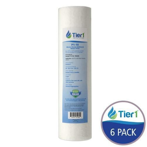 Tier1 Pentek P1 Comparable 1 micron 10 x 2.5 Inch Sediment Water Filter (Pack of 6)