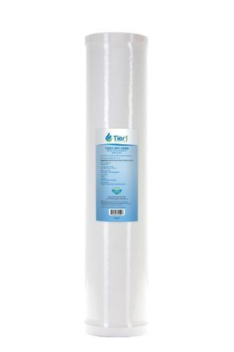 Tier1 RFC-20BB 25 Micron 20 x 4.5 Radial Flow Granular Activated Carbon Block Pentek Replacement Water Filter