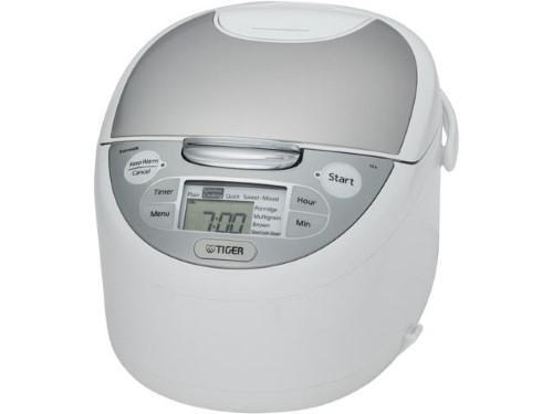 Tiger Jax-S10U Microcomputer Controlled Rice Cooker & Warmer, White, 11 Cups Cooked/5.5 Cups Uncooked