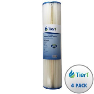 Tier1 Ecp5-20Bb 5 Micron 20 X 4.5 Pleated Cellulose Sediment Pentek Comparable Replacement Water Filter (Pack Of 4)