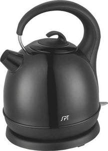 Sunpentown Home Indoor Kitchen 1.7L Stainless Cordless Kettle With Black Coating