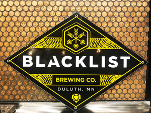 Blacklist Brewing Co. Tin Sign