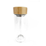 Sustainable Bamboo Glass Bottle With Tea Infuser