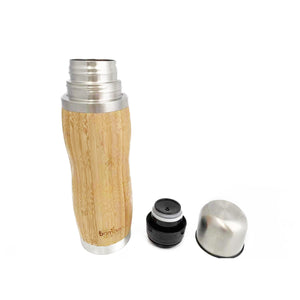 Sustainable Bamboo Thermos Flask With Cup