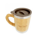 Sustainable Bamboo Insulated Mug With Travel Lid - Small