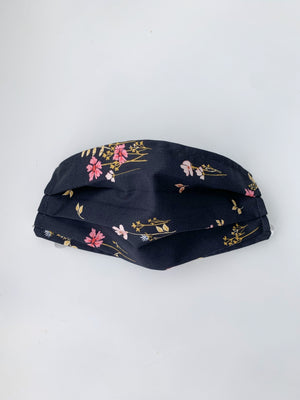 Face Mask - Navy Garden