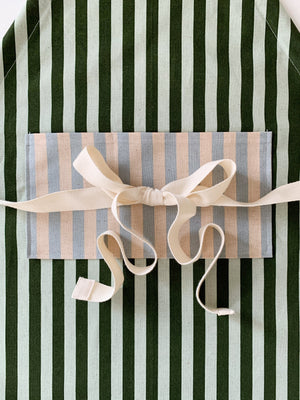 Child Green Stripe Apron