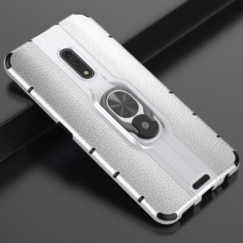 Case For OPPO Realme X Armor Case Metal Ring Holder Phone Bumper Case Realme X Ultra-thin Hard PC Back Cover For Realme X 6.5