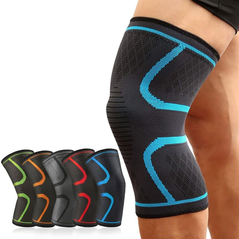 1 PC Elastic Knee Pads Nylon Sports Fitness Protective Gear Support Running Basketball Volleyball - My Web Store Shopping