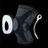 1 pcs Knee Patella Protector Brace Silicone Spring Basketball Running Compression - My Web Store Shopping