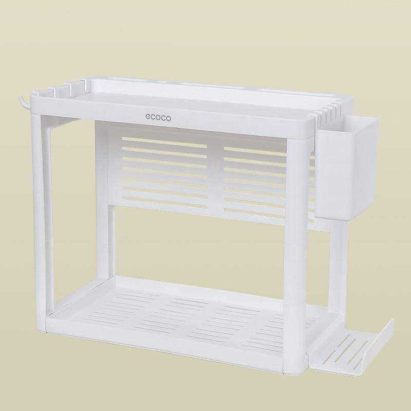 Double-layer kitchen shelf knife rack storage box - My Web Store Shopping