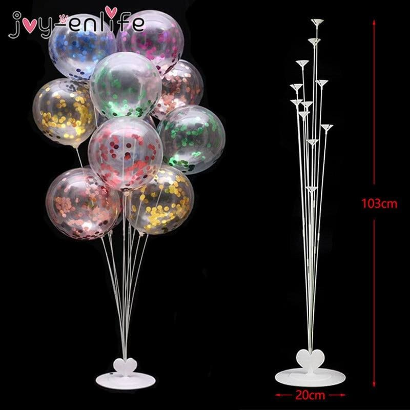 11 Tubes Balloons Stand Balloon Holder Column Wedding Party Decoration Balloon Kids Birthday Party - My Web Store Shopping