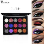 15 Color Diamond Sequins Eyeshadow Glitter Powder High-gloss Eye Shadow Sequins Glitter Loose Shimmer Eye Shadow Makeup TSLM1 - My Web Store Shopping