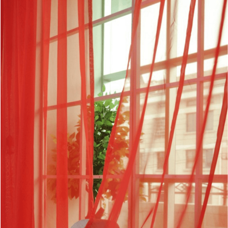 Curtains Solid Tulle Modern Curtains for Living Room Transparent Tulle Curtains Window Sheer for the Bedroom - My Web Store Shopping