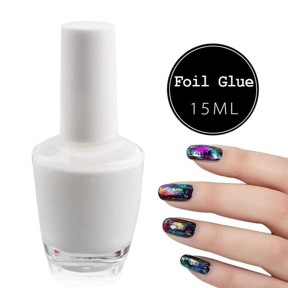 15ml Top Quality Nail Art Cream White Star Glue Foils Transfer Adhesive  UV Gel Polish Design - My Web Store Shopping