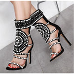 Rhinestone high heel sandals - My Web Store Shopping