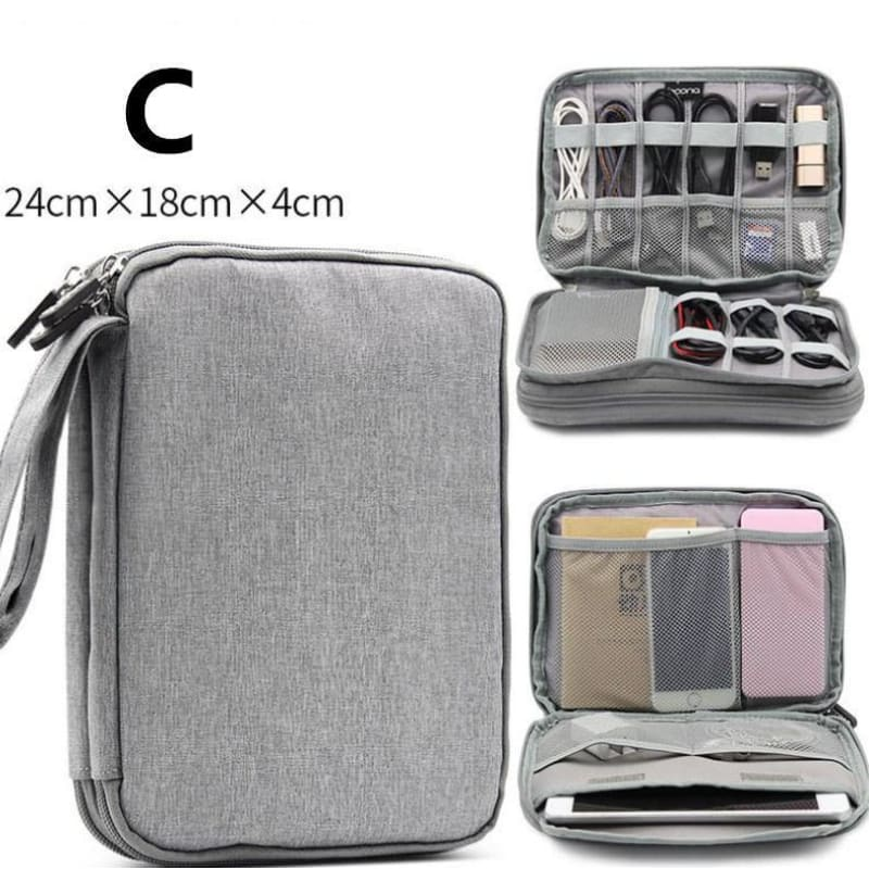 Data line receiving package multi-function digital receiving bag headset hard drive usb drive power protection sleeve. - My Web Store Shopping