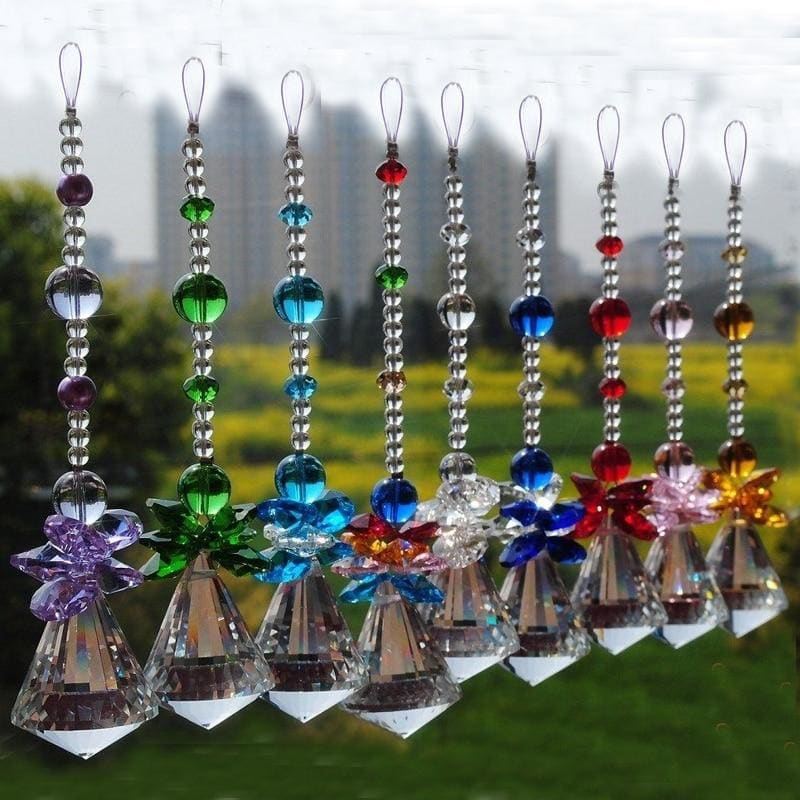 1PCS 30mm 40mm Hanging Chakra Crystal Handmade Angel Crystal Ball Suncatcher - My Web Store Shopping