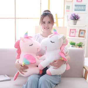 Load image into Gallery viewer, 1Pcs 25cm Fat Rainbow Style Unicorn Plush Toy Animal Stuffed Toys Children Toys Soft High Quality - My Web Store Shopping