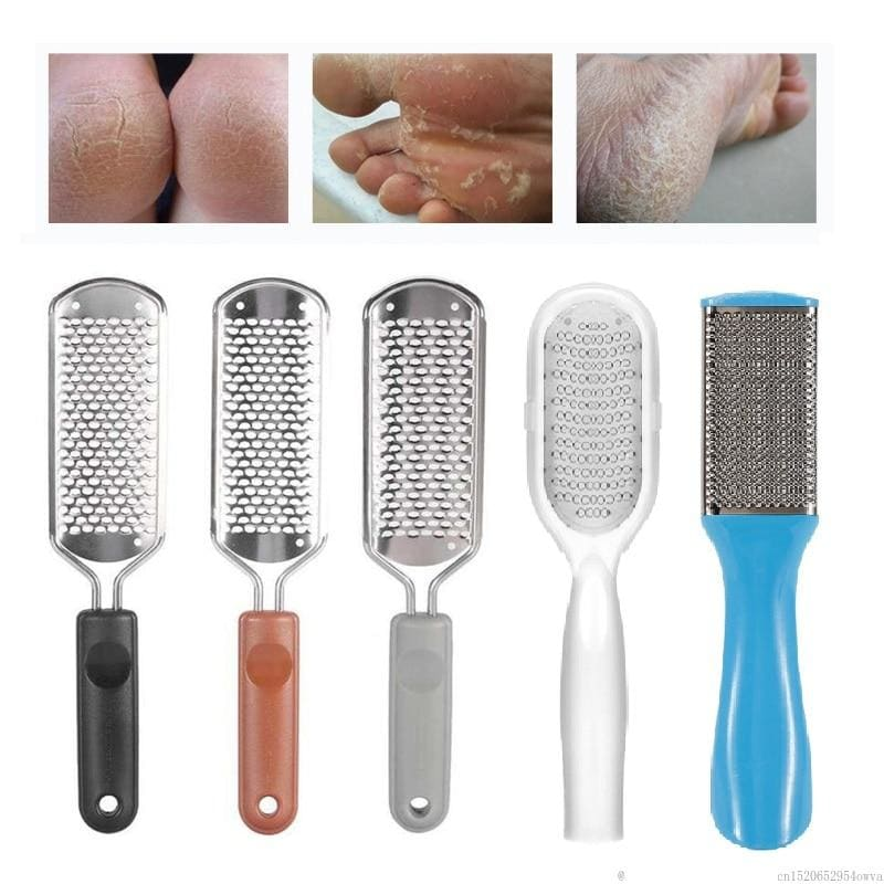 1pc Durable Stainless Steel Foot Rasp File Hard Dead Skin Callus Remover Pedicure File Grinding Feet - My Web Store Shopping
