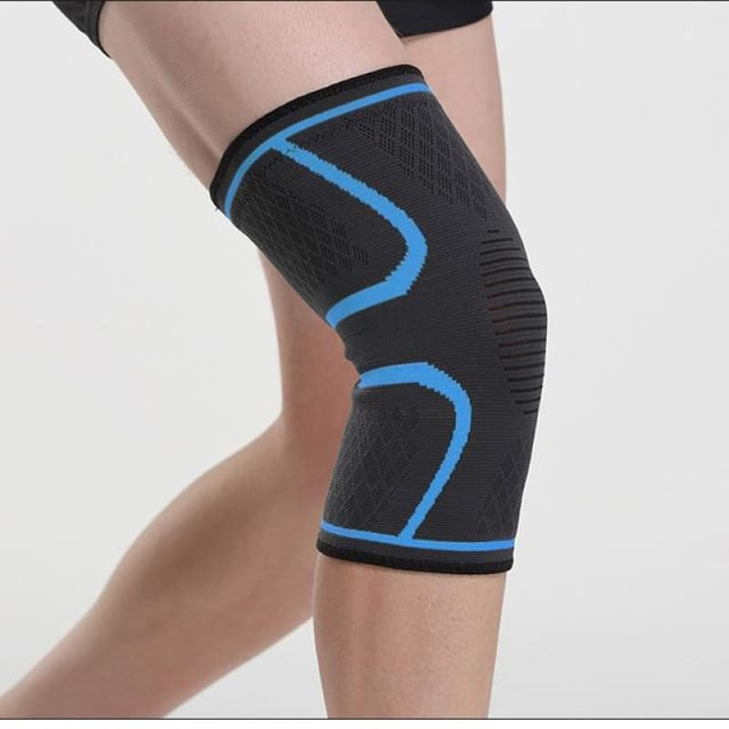 Load image into Gallery viewer, 1pc Nylon Elastic Sports Knee Pads Breathable Knee Support Brace Running Fitness Hiking Cycling - My Web Store Shopping