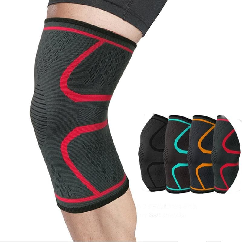 1pc Nylon Elastic Sports Knee Pads Breathable Knee Support Brace Running Fitness Hiking Cycling - My Web Store Shopping