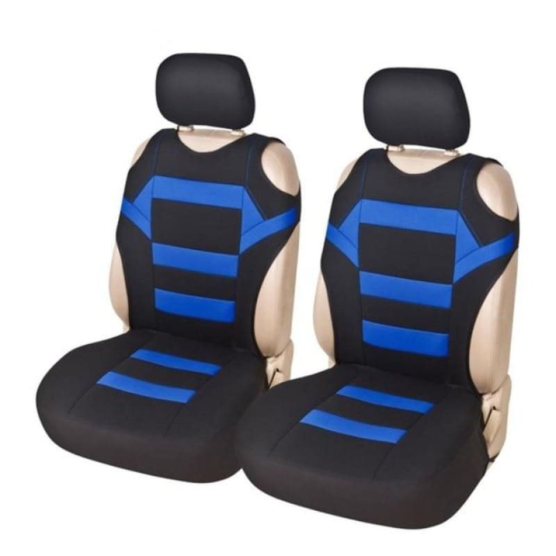 Load image into Gallery viewer, 2 Set Universal Car Seat Covers Mesh Sponge Interior Accessories T Shirt Design Front Car Seat Cover - My Web Store Shopping