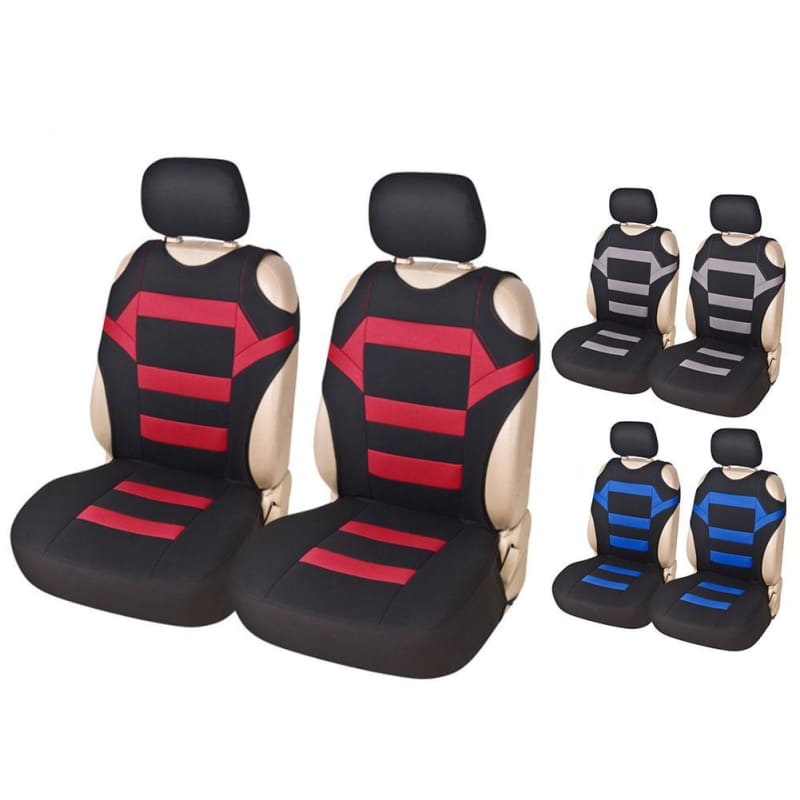 2 Set Universal Car Seat Covers Mesh Sponge Interior Accessories T Shirt Design Front Car Seat Cover - My Web Store Shopping