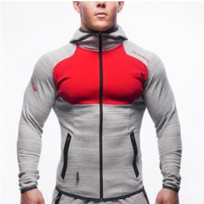 Men Hoodies Brand Clothing Men Hoody Zipper Casual Sweatshirt Muscle Men's Slim Fit Hooded Jackets - My Web Store Shopping