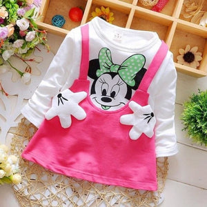 Load image into Gallery viewer, Summer Cotton Baby Girls Cartoon Long Sleeves Dress Children's Clothing Kids Princess Dresses Casual - My Web Store Shopping