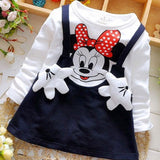 Summer Cotton Baby Girls Cartoon Long Sleeves Dress Children's Clothing Kids Princess Dresses Casual - My Web Store Shopping