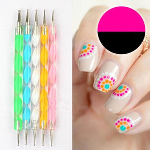 Load image into Gallery viewer, Dual-ended Nail Dotting Pen Nail Polish Purple Long-Lasting DIY Nail Art Decoration Tool - My Web Store Shopping